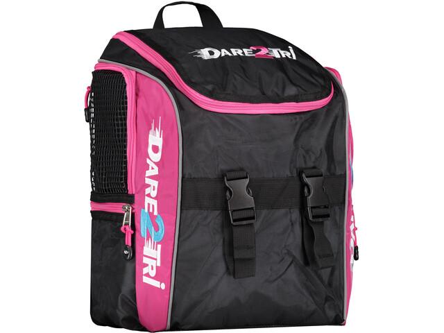 Dare2Tri Transition Rugzak 13L, black/pink